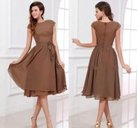 Fast Delivery Sexy Simple Bridesmaids Dresses Chiffon Scoop ...