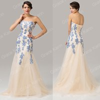 Grace Karin Mermaid Sexy Strapless Soft Tulle Ball Gown Even...