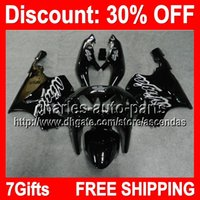 7gifts ALL Black Full Fairing Kit For KAWASAKI NINJA ZX- 7R 9...
