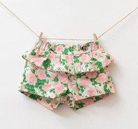 baby girl kids rosette rose flower floral shorts short pants...