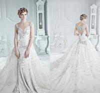 2015 Luxurious Michael Cinco Swarovski Crystal Wedding Dress...