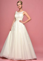 Floor Length Wedding Dresses with Vintage Inspired Applique ...