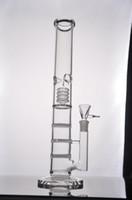 tuyau d'eau en verre droite pipe à eau BONG Nouveau verre avec 3 Honeycomb Percolateur 18,8 mixte 44.5cm Hight