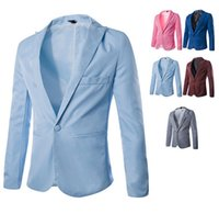 2014 fall autumn New Suits & Blazers for men casual slim car...