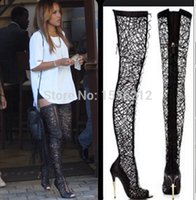 Thigh High Cut Out Gladiator Heels Reviews | Thigh High Cut Out ...