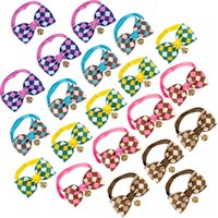 Cat Dog Puppy WholesaleTie Bow Pet Ties with Bell Handmade C...