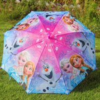 Colorful Cute Cartoon Frozen Umbrella Rain and Sun Proof Fro...