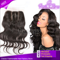 3 Way Part Brazilian Lace Top Closure Hairpieces Hair Extens...