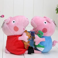 15cm Pink Pig With Teddy Bear Brother Pig Dinosaur Plush Toy...