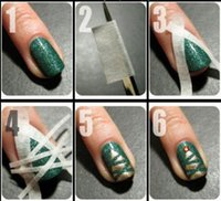 2PCS 17m*0. 5cm French Manicure Nail Art Tips Creative Nail S...