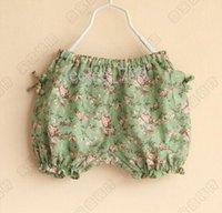 baby girl kids lace shorts vintage flower shorts rosette flo...