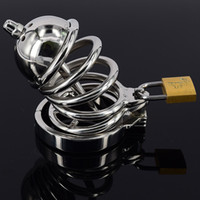 Sex Product Chastity Belt Stainless Steel Male Chastity Devi...