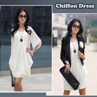 Mini-robe en mousseline de soie Lady Spring Plus Size Nouvelles Printemps Automne Mode Femmes Femmes Bureau Vêtements Robes Roupas Femininas 3XL G0134