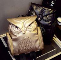 Fashion Women 3D Printing OWL Backpack PU Leather Owl Animal...