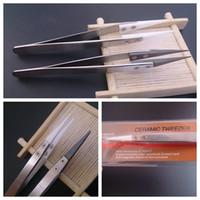 Isolation tweezer Céramique Emballage Coiler chauffage Fil Wick Outil antistatique en acier inoxydable pince pour le bricolage Clapton Ni200 Titanium ecig