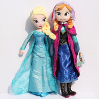 Frozen New 50cm Princess Elsa plush Anna Plush Stuffed Doll ...