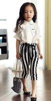 Kid Girls' 2PCS Set Suit Lace Solid Organza Turn- down T...