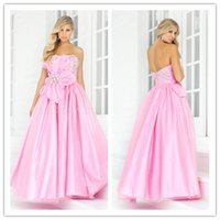 Pink Strapless Prom Dresses with Crystal 2015 New Blush Ball...