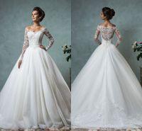 Amelia Sposa 2016 Lace Tulle Wedding Dresses Vintage Spring ...