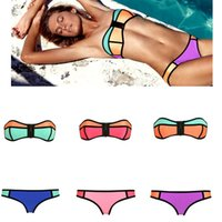 Newest Sexy Swimwear for Women Patchwork Bikini Set with Zip...