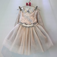 2015 Kids Girls Tulle Lace Dresses Baby Girl Fall Princess D...