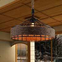 Vintage America Country Iron Edison Rope Pendant Lights Vint...