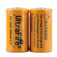 Ultrafire 18350 1200mAh 3.7V-4.2V Li-ion rechargeable haute vidange de lithium VS 26650 VTC5 Batterie 0204137