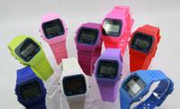 Alarme F-91W montres de luxe homme montre de silicone LED Watch réveil F-91W montres LED numérique horloge F91W LED montres montre de silicone Mode