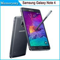Reformado Samsung Galaxy Note envío 4 / N9100 5.7 pulgadas Quad core Android 4.4 RAM 3GB 16GB 16MP cámara de teléfono celular de DHL 002866