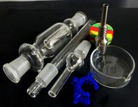 2016 nouvelle Nectar Collector Coffret Cadeau Titanium Nail Quartz Nail dabber Pipes Dish clip Keck Concentré pour plate-forme pétrolière et tamponner