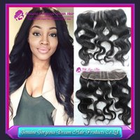 "Malaysian Virgin Hair Lace Frontal Closure 13x2"" Bleach..."