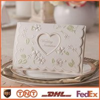 Invitations blank pages 170 mm * 115 mm paper white wedding ...
