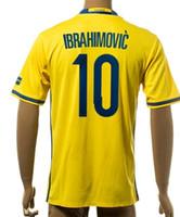 Thai Quality Customized 2015- 16 Sweden European Cup 10 Ibrah...