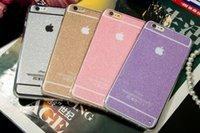 Etui en poudre Flash pour iPhone 6 / 6s 6plus 6s plus denim texture bon marché cas téléphone mobile vente chaude