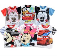 16 Style Cartoon Mickey Mouse Cars Baby Boys Girls Short Sle...
