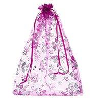 100pcs lot Floral Print Square Organza Jewelry Pouch Festiva...