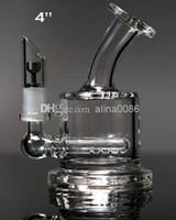 Mini bong en verre tuyau d'eau ashcatcher inline barboteur en gros deux fonctions plate-forme pétrolière de conduites d'eau bongs livraison gratuite
