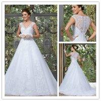 2015 Wedding Dresses Vintage Wedding Dress New Arrival V Nec...