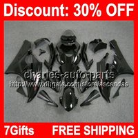 7gifts ALL Black Full Fairing Kit For YAMAHA YZF- R6 2006- 200...