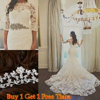 Perfect Long Sleeve Lace Mermaid Wedding Dresses 2015 Cheap ...
