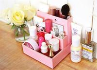 Мода Горячие DIY картона Ящик для хранения стол Декор Канцелярские макияжа Косметические Организатор