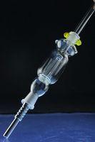 kit de collecteur de Nectar, avec déclenchement de l'ongle de titane, 14mm 19mm tout avaiable. Pipe en verre, mini bong en verre. offrent également des ongles de titane.