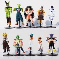 10pcs set Dragon Ball Z Goku Gohan Roshi Piccolo Freeza PVC ...