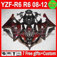7gifts Red flames For YAMAHA YZFR6 08- 12 YZF600 YZF R6 08 09...