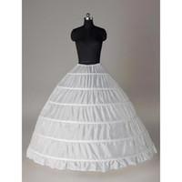 Супер дешевые бальное платье 6 обручей Petticoat венчания скольжению Кринолайн Люкс Underskirt Layes Слип 6 Хооп юбка кринолин для Quinceanera платье