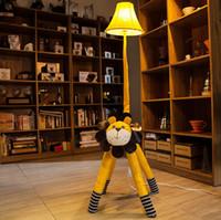 Creative cortex cartoon floor lamps, bedside lamp bedroom, r...