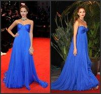 Royal Blue империи талии материнства вечерние платья на заказ Плюс размер платья знаменитостей для беременных Милая Длинные партии Пром платья