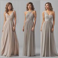 Grey Chiffon Bridesmaid Dresses One Shoulder UK   Free UK Delivery ...