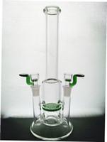 2015 design moderne à double verre conjointe eau tuyau nid d'abeille percolateur bang mini-barboteur à double 14mm bol slied