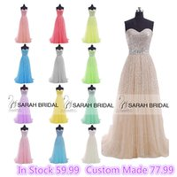 2015 Champagne Coral Lilac Long Prom Dresses In Stock Custom...